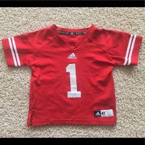 Adidas Wisconsin Badgers football jersey 4T